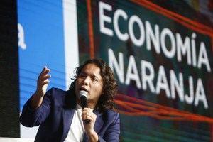 El secretario general del Organismo Internacional de Juventud para Iberoamérica (OIJ), Max Trejo, fue registrado este martes, durante la Cumbre de Economía Naranja, en Medellín, Colombia.