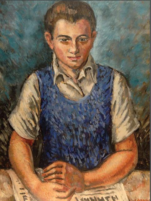 El Lector. C. 1942, Óleo sobre cartón, 66 x 52 cm. Imagen: Museo Bellapart, Santo Domingo.