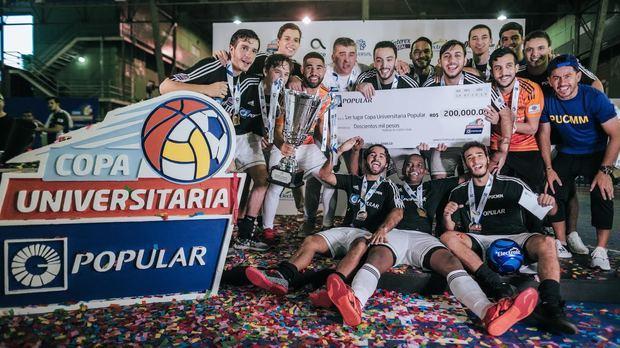 La Pontificia Universidad Católica Madre y Maestra, PUCMM resultó en el primer lugar en la categoría de futbol sala masculino.