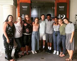 Estudiantes de la Universidad de Mary Hardin - Baylor, Texas.