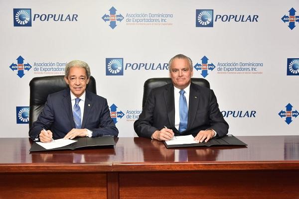 ProExporta Popular presta RD$56,700 millones a un millar de exportadores
