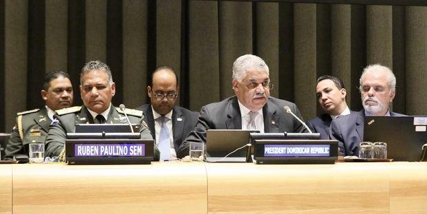 República Dominicana pide en la ONU hacer más contra el crimen organizado en el Caribe