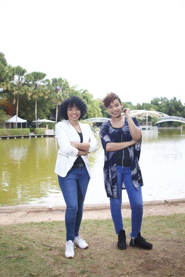 Nathaly Fernández, junto  a Lorens Salcedo