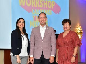 Gretchen Lora, Federico Sanabia y Erika Valenzuela
