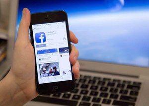 Facebook, en móvil.
