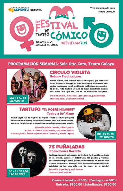 Afiche Festival de Teatro Cómico.
