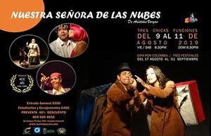 Afiche obra de teatro 'Nuestra Señora de las Nubes'.