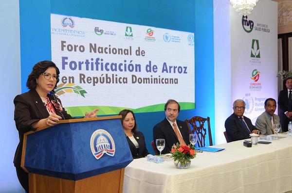 Cedeño llama a consenso para fortificar arroz y disminuir malnutrición