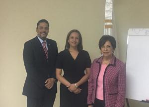 Emerson Díaz, Wendy Lora y Cristina de Castro
