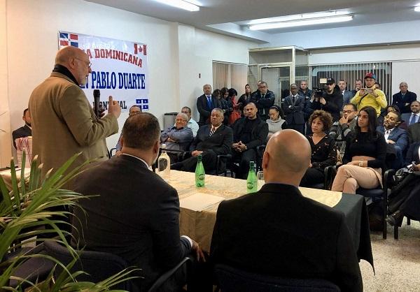 El embajador Vergés visita Montreal en procura de una agenda conjunta con la comunidad dominicana