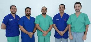 Carlos Peña, Hensel Peralta, José Victoria , Pablo Mateo y Federico Escobar.