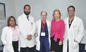 Elaine Garrido, Víctor Cuello, Douglas King, Susana Messina de Caro y Pedro Ureña