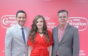 Huascar Beltré, Gloritzell Contreras y Pablo Wiechers