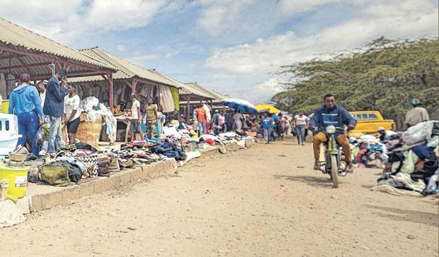 Imagen de los mercados en la frontera Dominico-Haitiana.