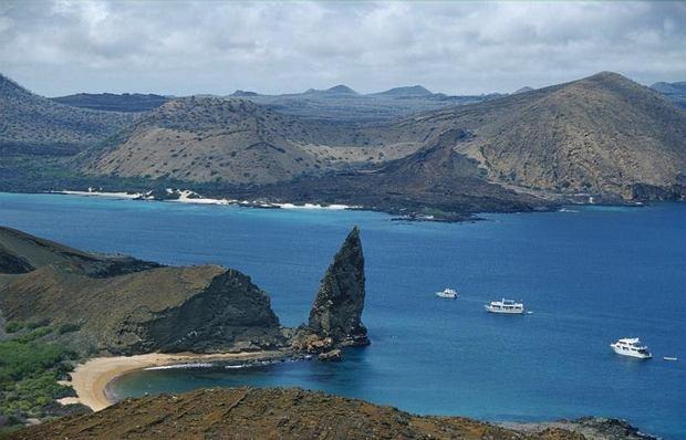Vista panorámica del archipiélago ecuatoriano de las Galápagos.