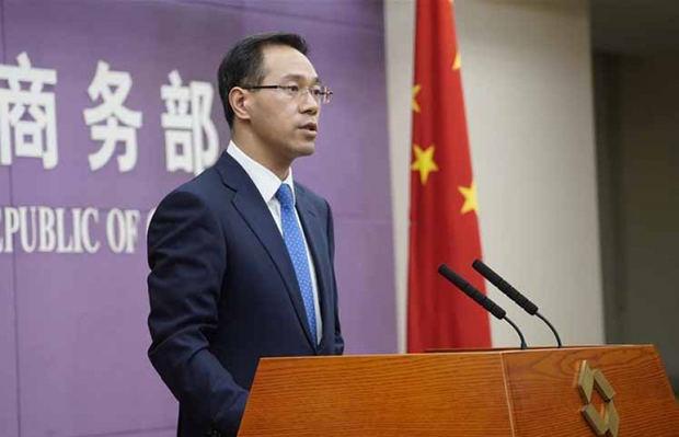 Gao Feng, vocero del Ministerio de Comercio de China.