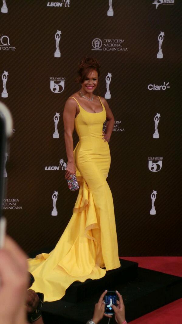 Georgina Duluc en los premios Soberano 2014.