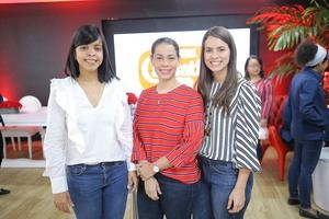 Giselle Marmolejos, Jaribel Gruñón y Laura Pimentel.j