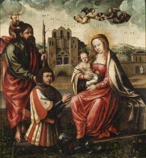 """Pintura """"Virgen de Colón"""", un cuadro que se encuentra en el museo Lázaro Galdeano de Madrid."""