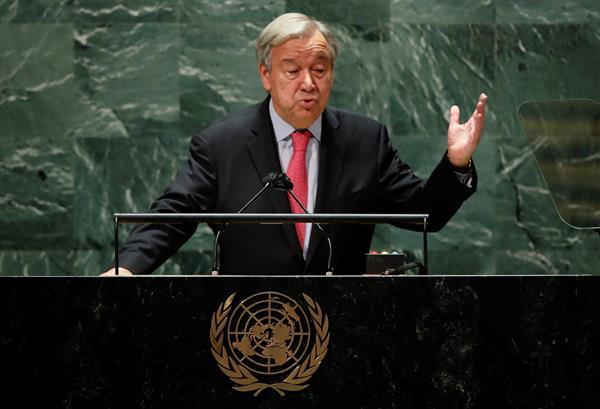 Fotografía del secretario general de la ONU, António Guterres.