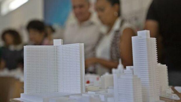 Vista de una maqueta de la calle Línea y alrededores, en la exposición 'Soñar La Habana', del equipo multidisciplinario Proyecto Espacios (PE), que propone renovar la emblemática avenida Línea.