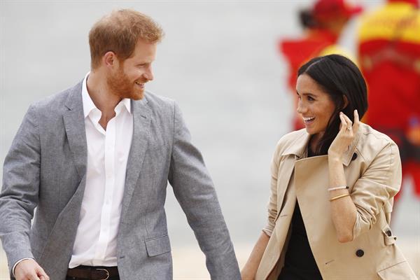 En la imagen, el príncipe Harry (i) y Meghan (d), duques de Sussex.