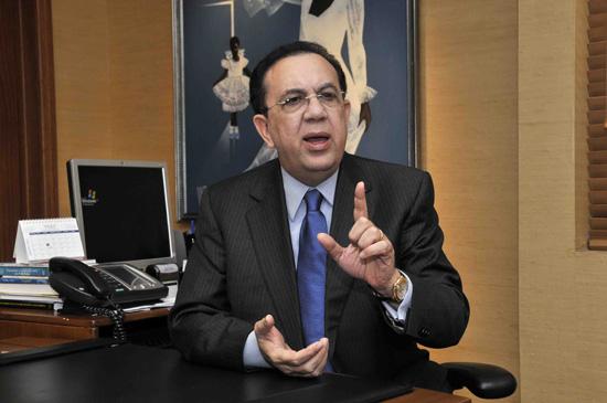 Gobernador del Banco Central, Héctor Valdez Albizu.