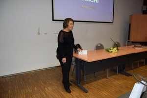 Natacha Sánchez, cónsul general de la RD en Amberes se dirige a los presentes.