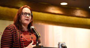 La ministra de la Mujer, Janet Camilo.