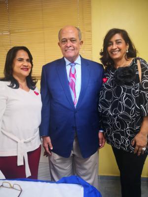 Magali Álvarez,  Jose Silie Ruiz y Wilma Pérez