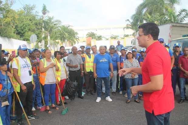 Collado realiza amplio operativo de limpieza en todo el Distrito Nacional