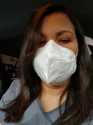 Clara Méndez, neumóloga internista del hospital doctor Francisco Moscoso Puello,