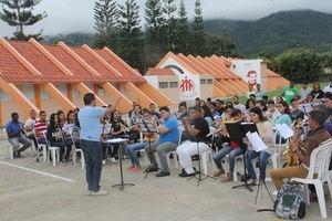 Las instalaciones del Centro Salesiano Pinar Quemado fueron propicias para la realización de este segundo encuentro de formación musical, ejecutado por el Ministerio de Cultura y la Dirección de Escuelas Libres.