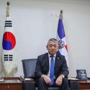 Byung-Yum Kim, embajador de República Dominicana en el país.