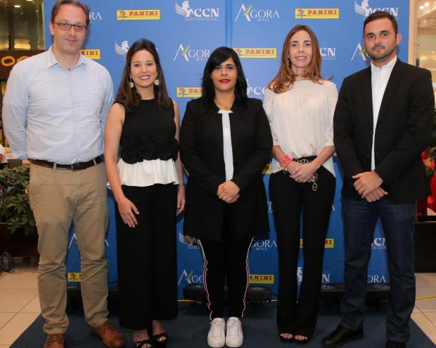 Hans Kuehn, Farah Read de Dipino, Madelyn Martínez, Miriam López de Matheus y Avelino Cuadra