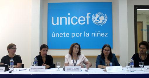 Representantes de Unicef.