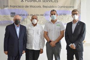 Domenico Malcangio, Leónidas Batista, Eddy Ramírez Y Paulo Paiewonsky.