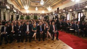 Público asistente al 50 aniversario del sector zonas francas.