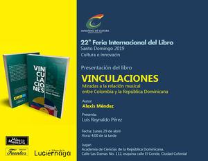 Invitaciòn a la puesta en circulación del libro Vinculaciones de Alexis Méndez.