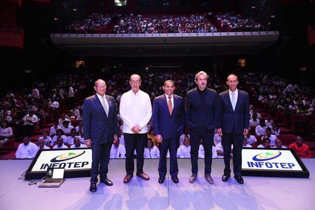 Gabriel del Río Doñé, Luis Felipe Aquino, Rafael Ovalles, Diego Coquillat y Winston Santos.