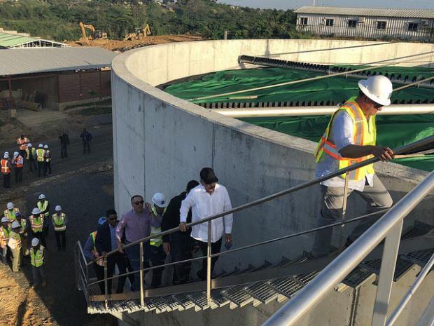 Inspeccionan avances de la Estación Depuradora de Aguas Residuales del río Ozama