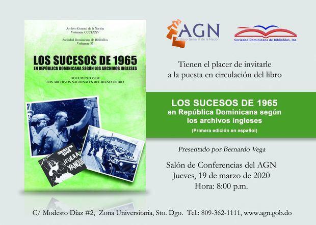 Invitación - Los sucesos de 1965 en República Dominicana .