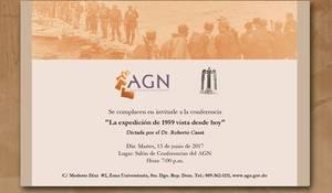 """""""La expedición de 1959 vista desde hoy"""", conferencia de Roberto Cassá en el AGN"""