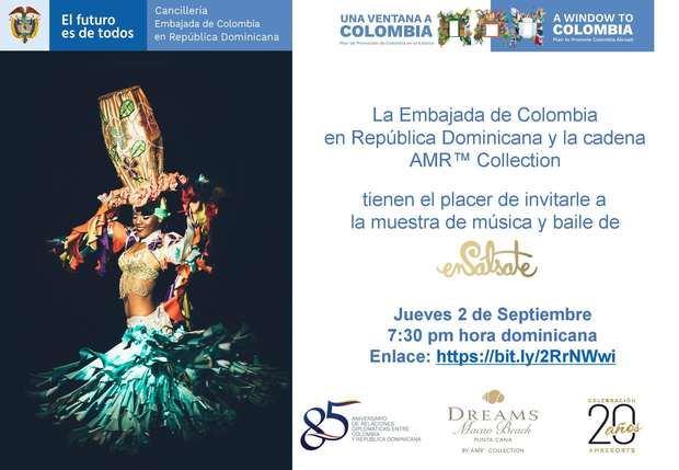 """Embajada de Colombia en la RD presenta la muestra virtual de música y baile """"Ensálsate"""""""