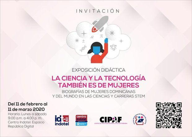 """Indotel presenta muestra """"La Ciencia y la Tecnología también es de Mujeres"""""""