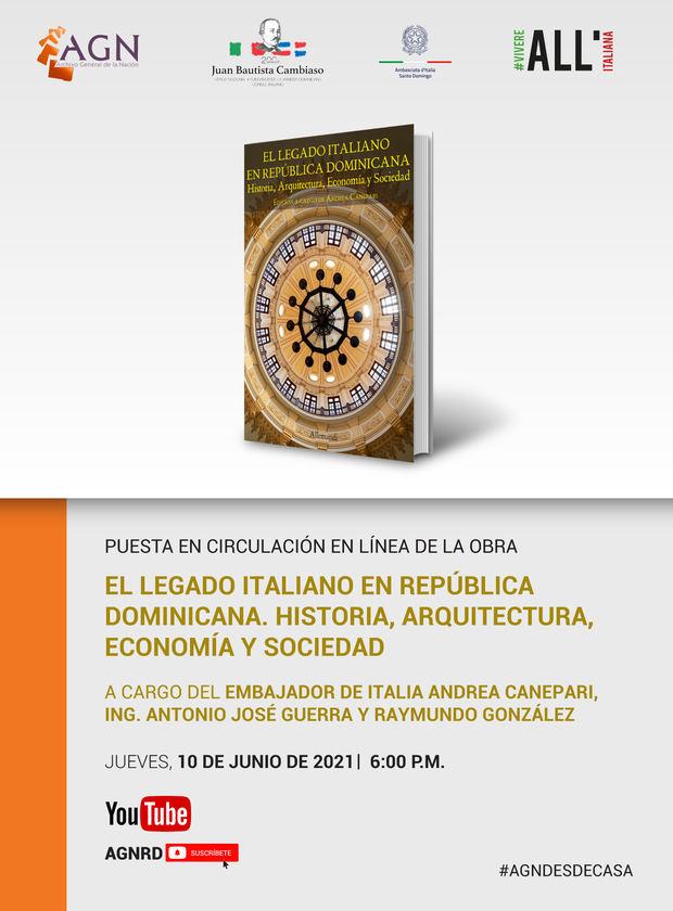 Archivo General de la Nación y la Embajada de Italia en Santo Domingo, invitan a puesta en circulación