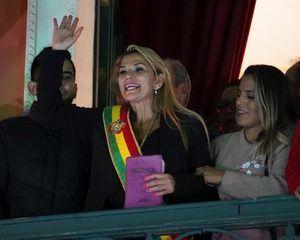 La presidenta interina, Jeanine Áñez.