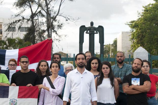 Foto de Archivo José Horacio en actividad en el Monumento al 14 de Junio febrero (2020).