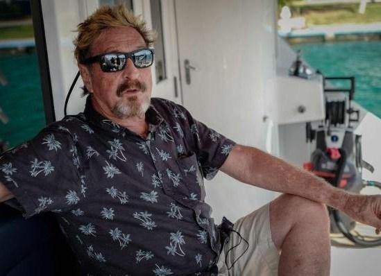 John McAfee, el multimillonario y fundador de una compañía de antivirus capturado en Puerto Plata esta semana.