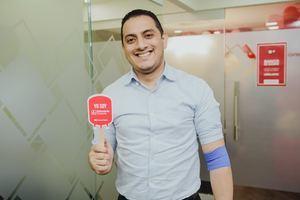 José Gil, donante de sangre de Banco Caribe.